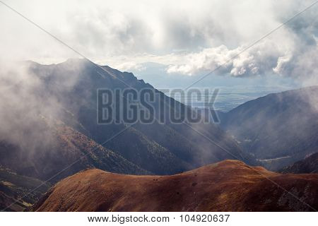 skyline view from Volovec at Tatra mountains
