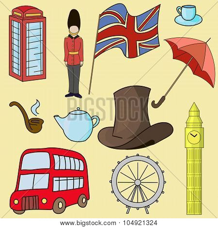 United kingdom of Great Britain symbols