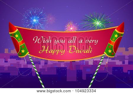 Colorful firecracker for Happy Diwali