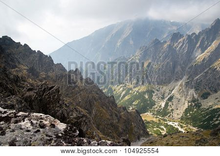 mountain view at Lomnicke sedlo