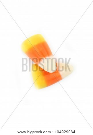 Halloween Candy Corns Isolated On White