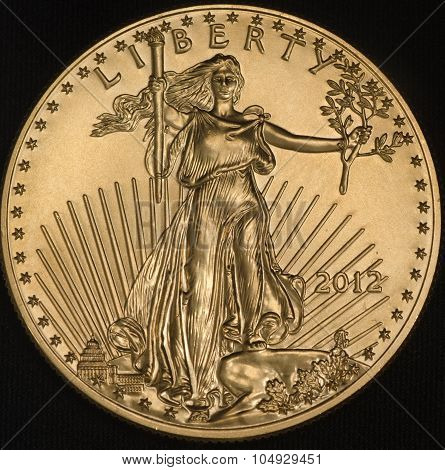 American Gold Eagle Coin (obverse)