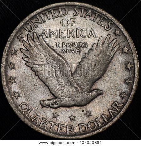 American Silver Quarter Dollar Coin