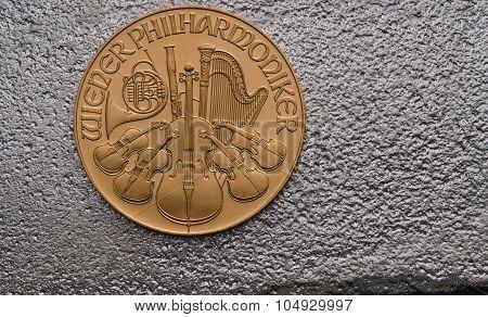 Austrian Gold Philharmonic On Silver Bar