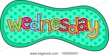Wednesday Stitch Text Label