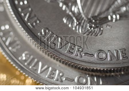 Silver (word) On United States Silver Eagle Coin