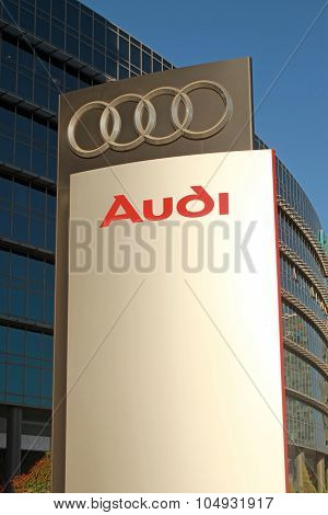 Audi Dealership Logo Stand