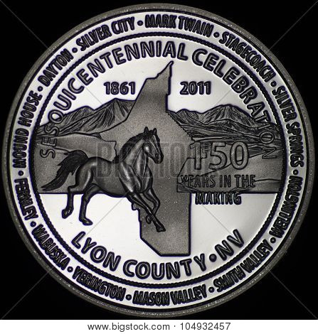 The Lyon County Nevada Commemorative Coin