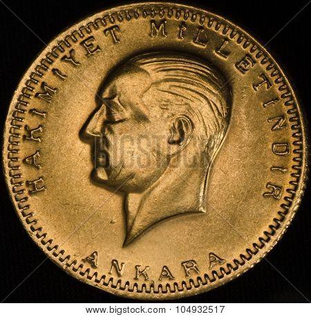 Turkey Kurush Ataturk Gold Coin
