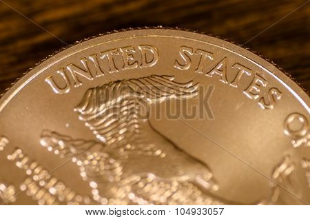 United States  (words) On American Gold Eagle Coin