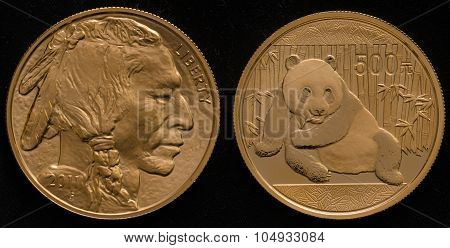 Us Gold Buffalo Coin Vs. China Gold Panda Coin