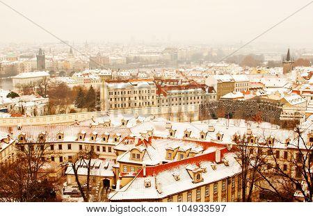Panorama Of Prague With Its Landmarks