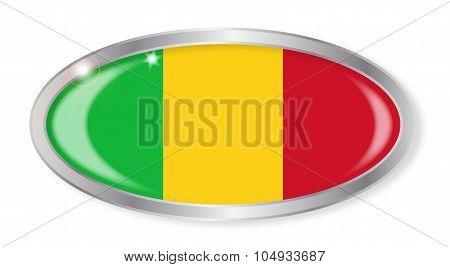 Mali Flag Oval Button