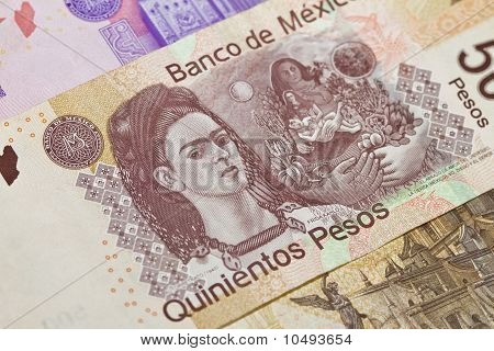 Frida Kahlo Mexican Five Hundred Pesos