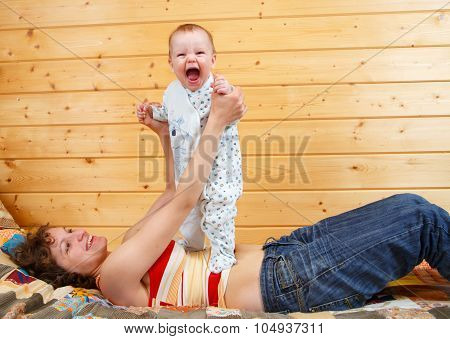Physical Exercises With Infant Child