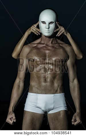 Muscular Man In Mask