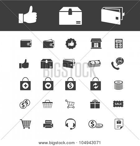 online shopping, sales, retail icons