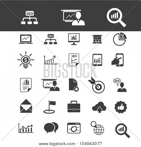 business, presentation, analytics, diagrams icons