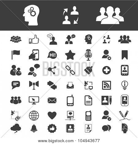 community, communication, blog, internet, social media icons