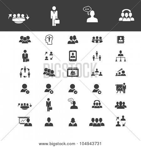 human management, career, job, employee icons