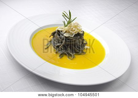 Dish Of Pasta And Fish