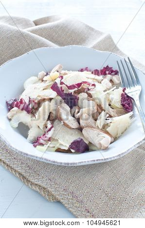 .porcini Mushroom Salad With Celery, Radicchio And Parmesan From Italy