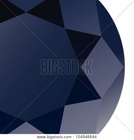 Gems diamond sapphire background vector, abstract geometric luxury style and sharp three dimensional