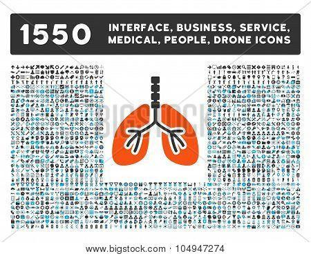 Breathe System Icon and More Interface, Business, Medical, People, Awards Glyph Symbols