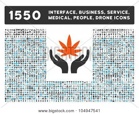 Cannabis Care Icon and More Interface, Business, Medical, People, Awards Glyph Symbols