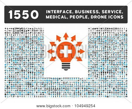 Disinfection Lamp Icon and More Interface, Business, Medical, People, Awards Glyph Symbols