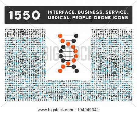Dna Spiral V2 Icon and More Interface, Business, Medical, People, Awards Glyph Symbols