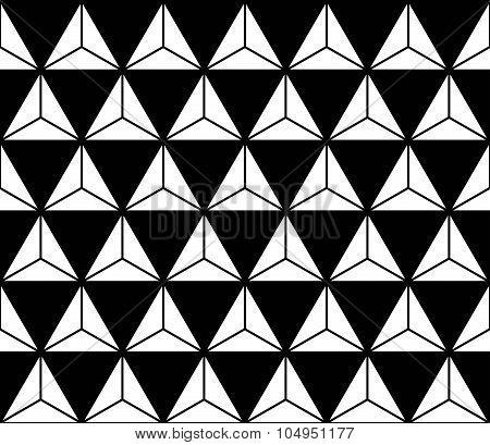 Vector modern seamless sacred geometry pattern black and white abstract geometric background trendy