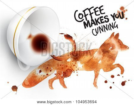 Poster Wild Coffee Fox