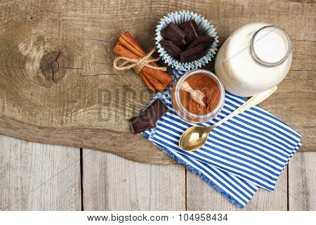 Ingredients For Homemade Cacao (cocoa)