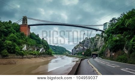 Road under the Clifton Bridge