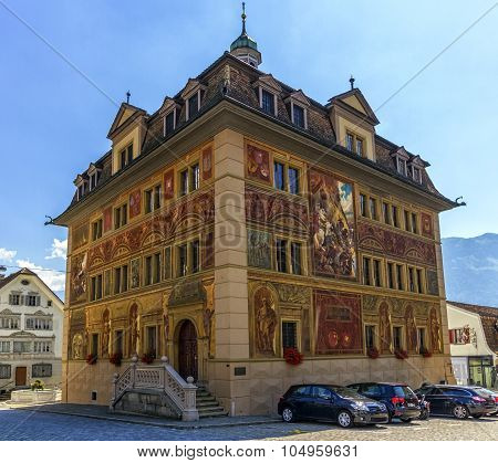 Schwyz or Schwytz city hall, Switzerland