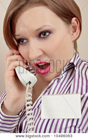 Manager With Phone