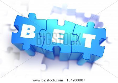 Bet - White Word on Blue Puzzles.