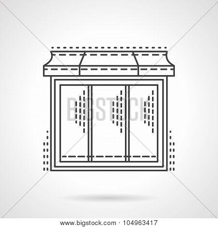 Glass showcase thin line vector icon