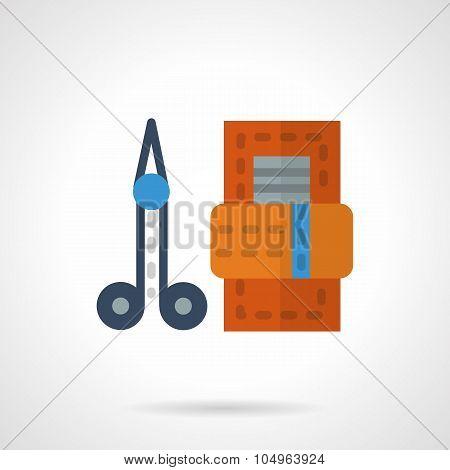 Manicure set flat color vector icon