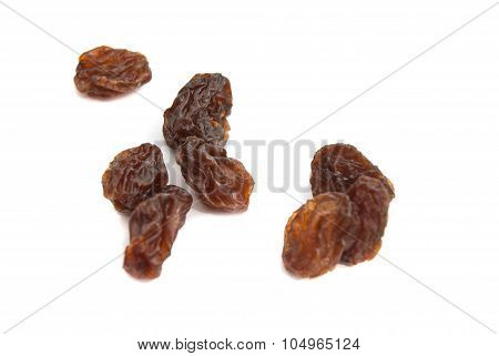 Tasty Raisins On White