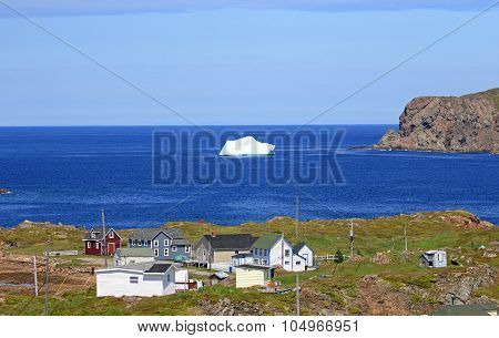 Iceberg in Twilling Gate Harbour, Newfoundland