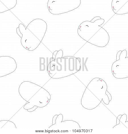 dot rabbit seamless pattern
