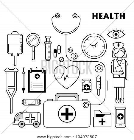 Medication Supplies Set