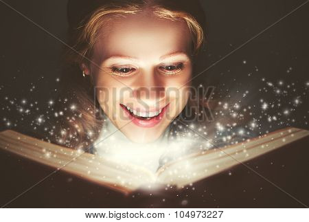 Woman Reading A Magic Book