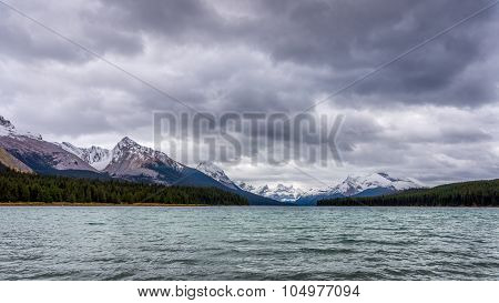 Maligne Lake in Jasper National Park in Canada