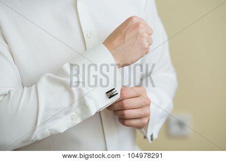 White Shirt And Cufflink