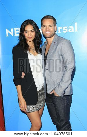 LOS ANGELES - AUG 12:  Florence Faivre, Wes Chatham at the NBCUniversal 2015 TCA Summer Press Tour at the Beverly Hilton Hotel on August 12, 2015 in Beverly Hills, CA