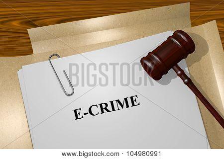 E Crime Concept