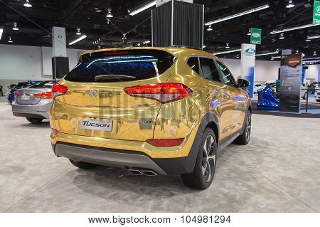 Hyundai Tucson On Display.
